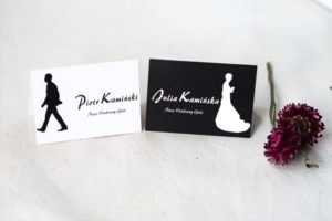 dwie winietki na weselne stoły